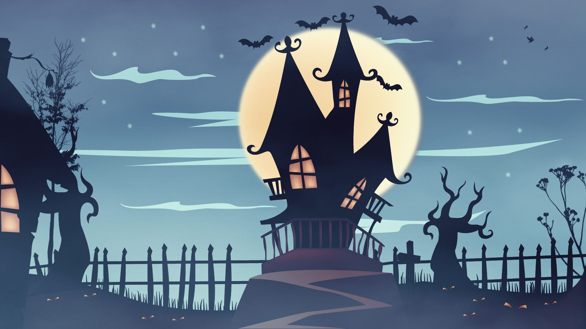 Pin By Briana Bolden On Ghost Kids Haunted House Drawing House Cartoon Halloween Illustration