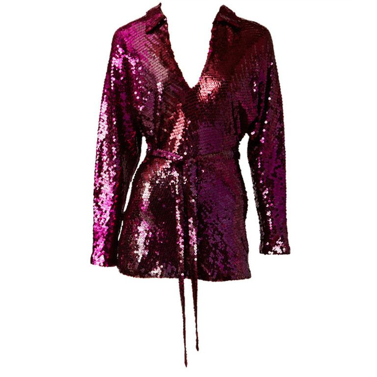 Halston Sequined Tunic   From a collection of rare vintage blouses at https://www.1stdibs.com/fashion/clothing/blouses/