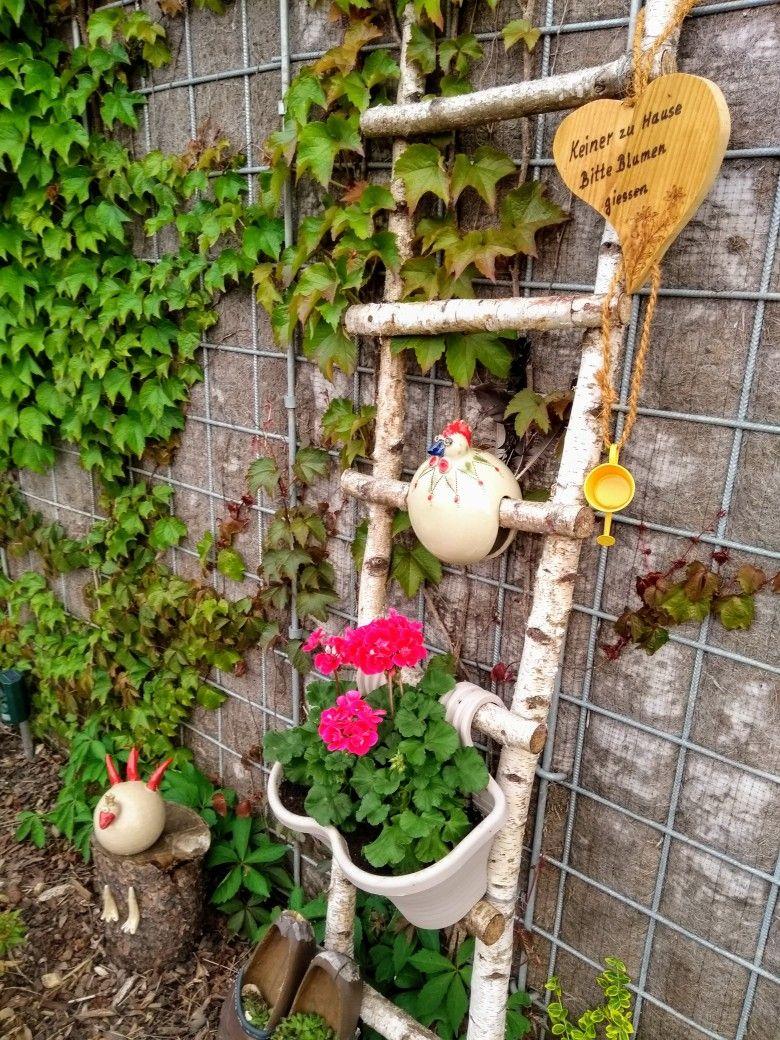 Dekoleiter Aus Birkenasten Fur Den Garten Garten Deko Garten Deko Ideen Garten Ideen