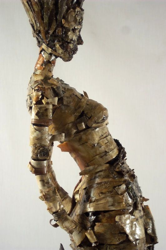 New skin is part of a series tree bark figures that are