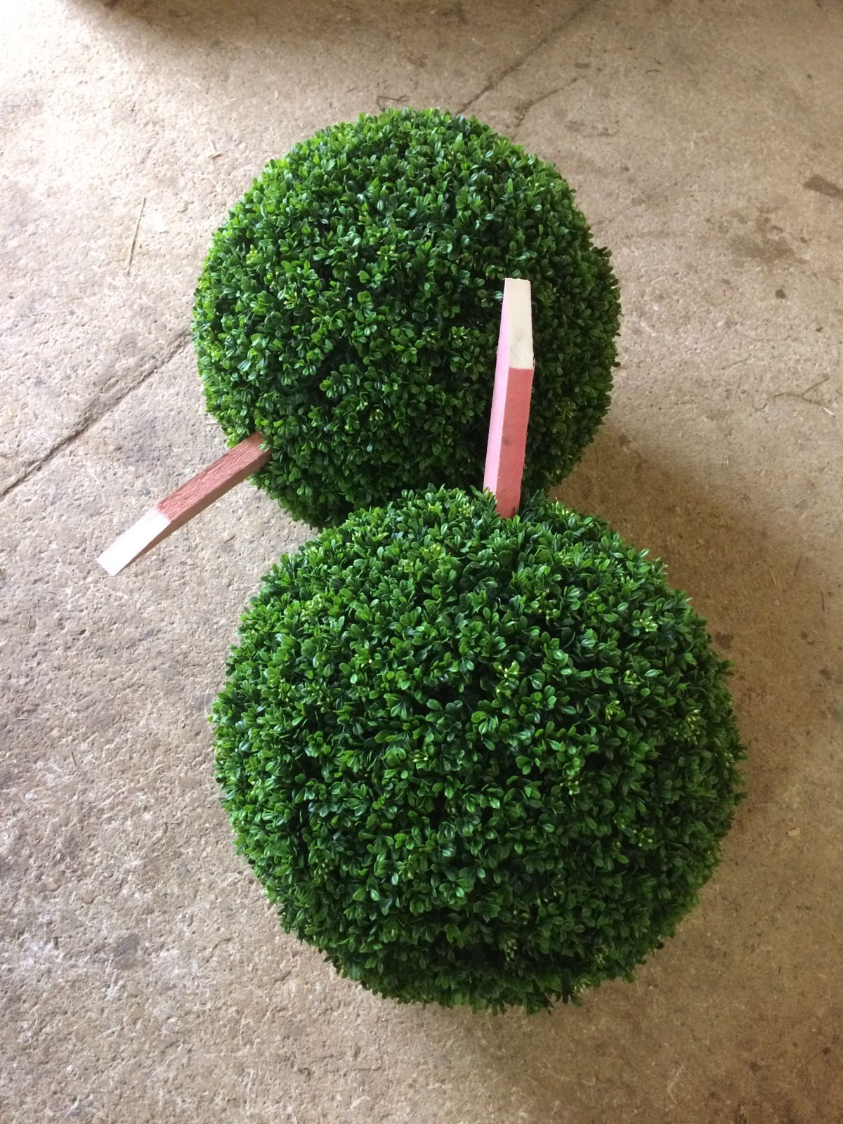 Premium Quality Artificial Boxwood Balls With Stakes Attached.