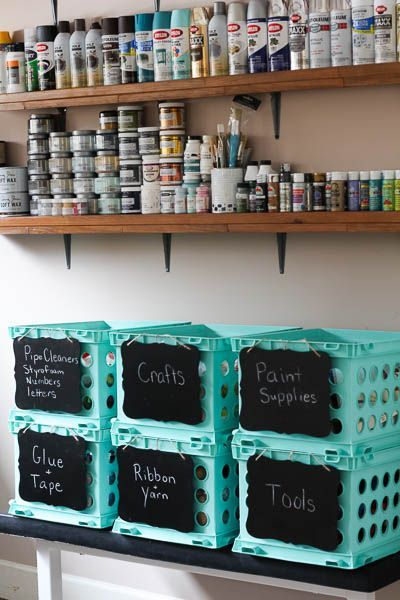 How To Organize Your Crafts Without A Craft Room Craft Room