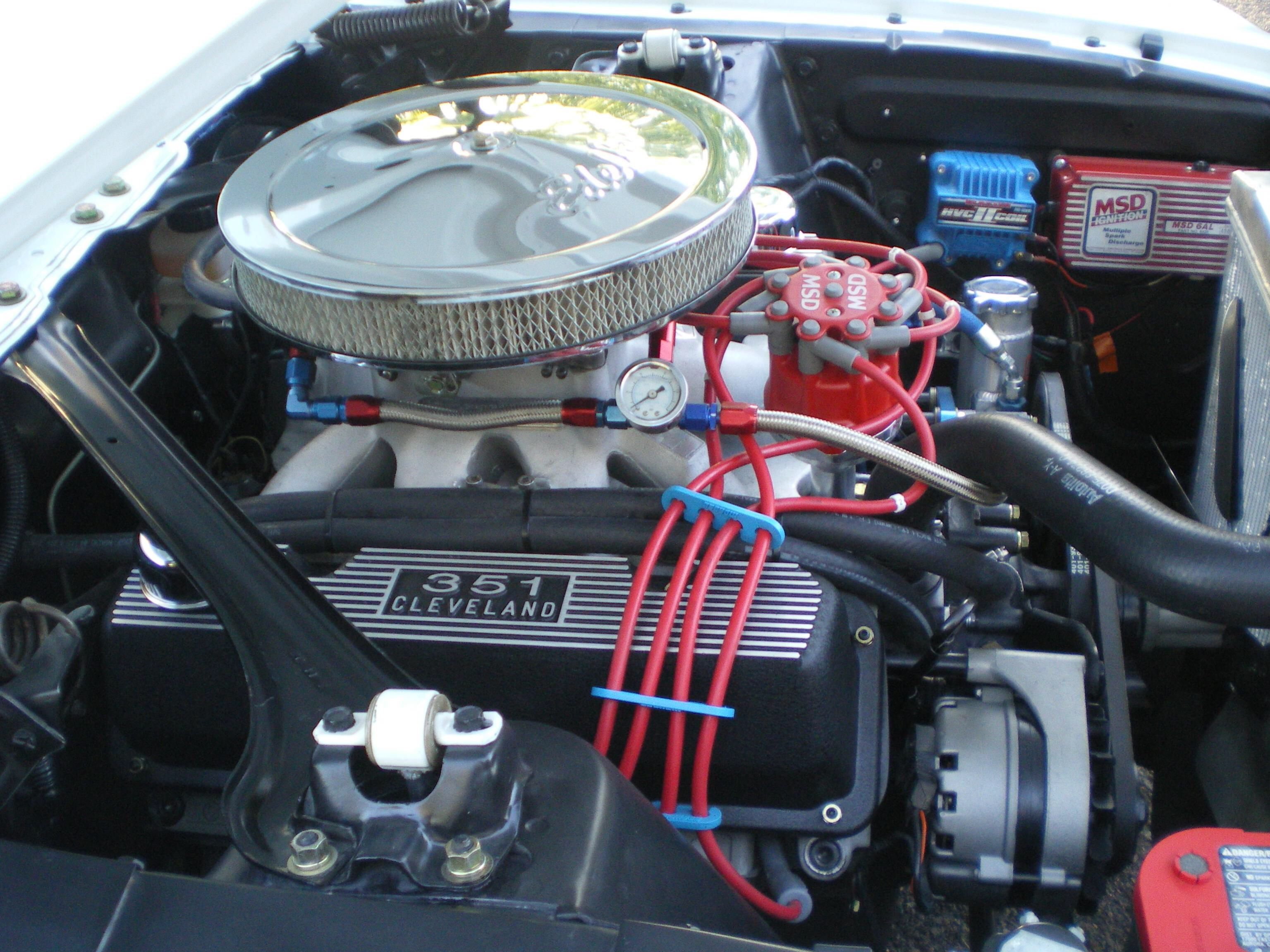 351 Cleveland In 1967 Mustang Coupe Filling That Engine Compartment Properly