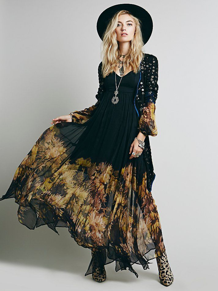 Womens Ball Gown Formal Floral BOHO Maxi Chiffon Cocktail Evening ...