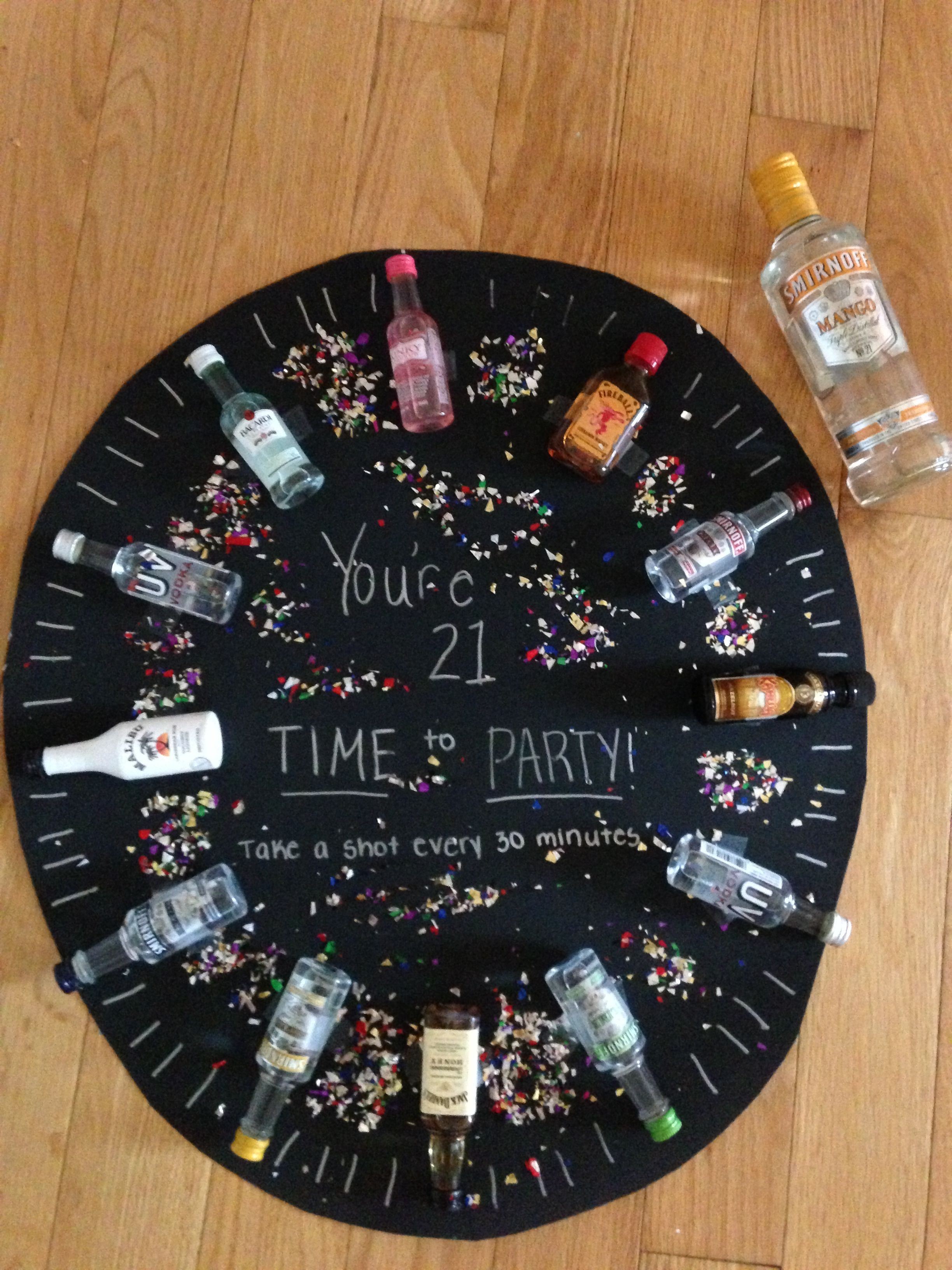 time to party shot clock 21st birthday present for my birthday omg