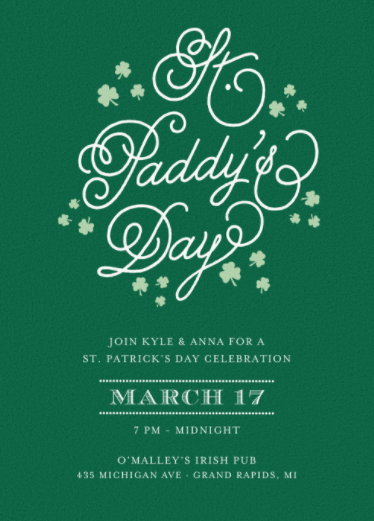 shamrock party invite your guests with a festive st patrick s day