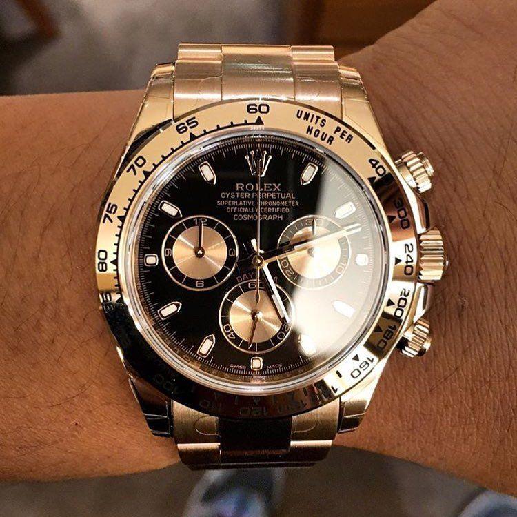 Full Rose Gold Rolex Daytona Watchs Rolex Watches Rolex