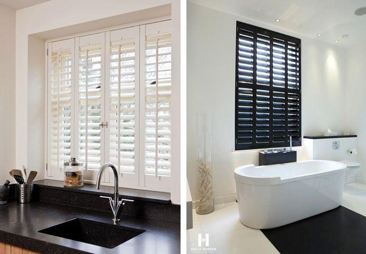 Shutters raamdecoratie keuken en badkamer ideeën voor het huis