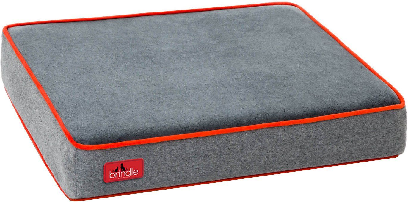 Brindle Waterproof Memory Foam Dog Bed Charcoal Velour Large Chewy Com Cane Gatto Gatti Cani