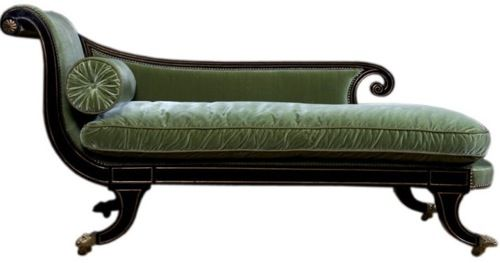Traditional Regency Chaise Lounge from Coup de Tat Elegant Repose