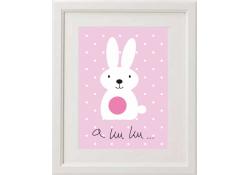Obrazeki z króliczkiem różowym