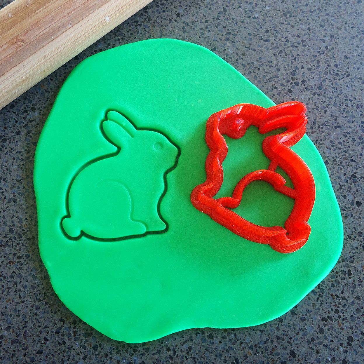 3D Printed Bunny Cookie Cutter | Felt
