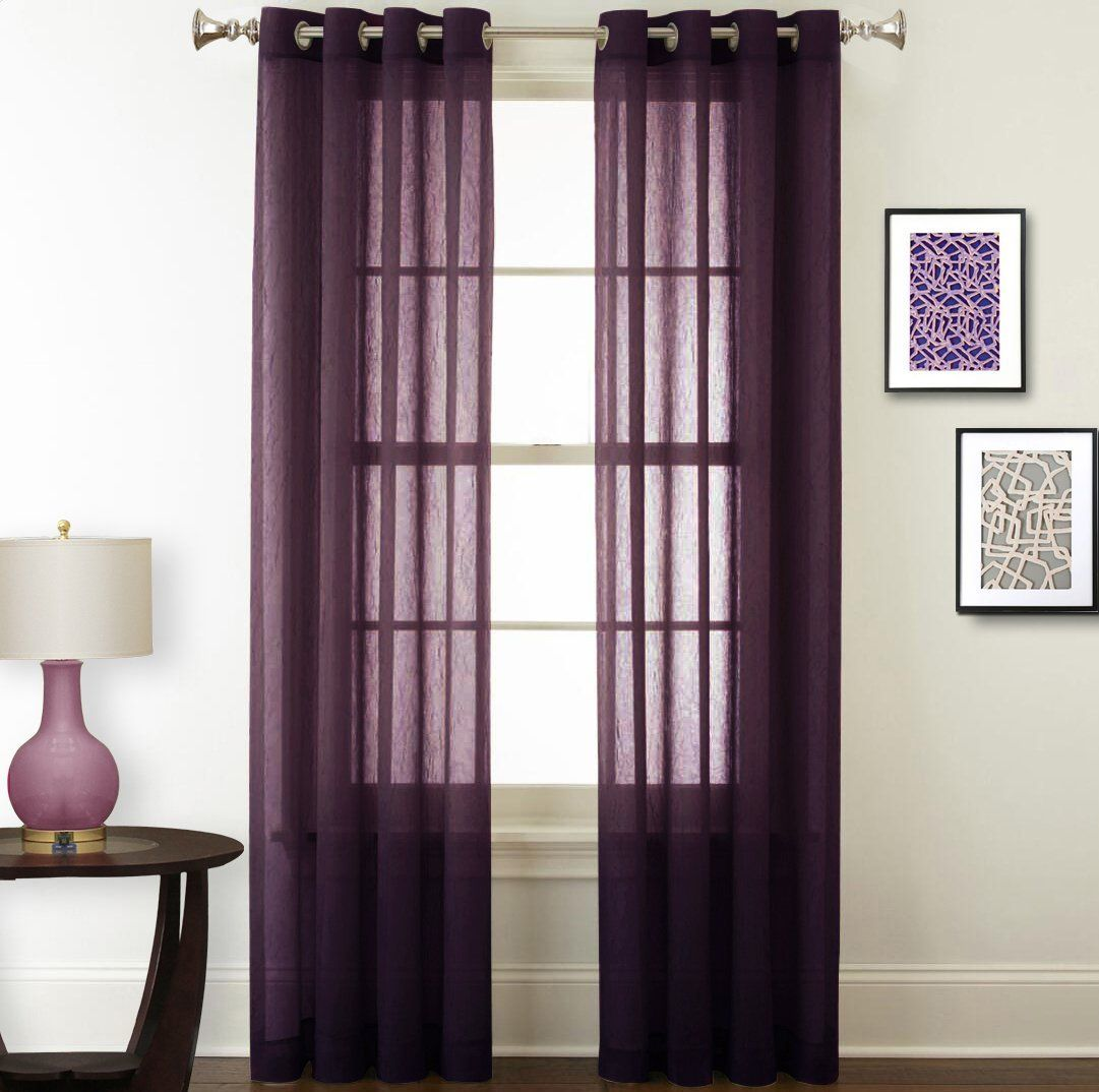 shipping product on home over lightweight overstock soho free curtain sheer garden voile orders panel panels