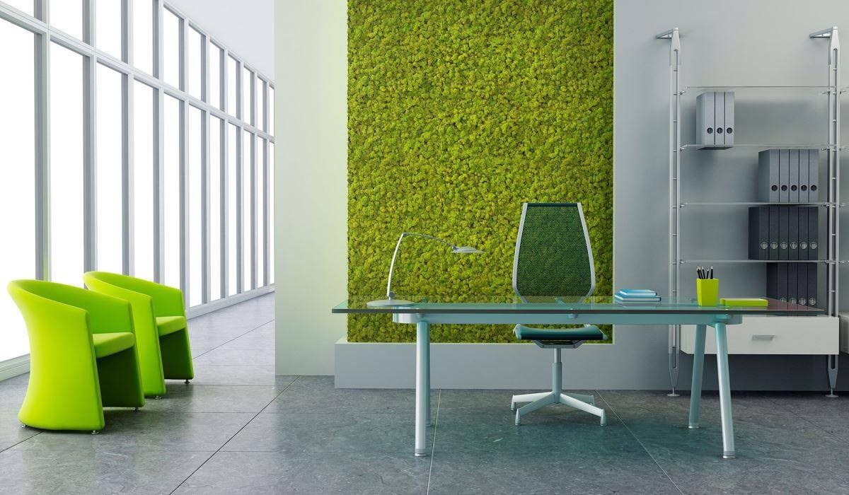 冰島苔蘚掛畫可大面積無縫安裝,無論是用在室內牆面上或是天花板都是吸睛焦點。