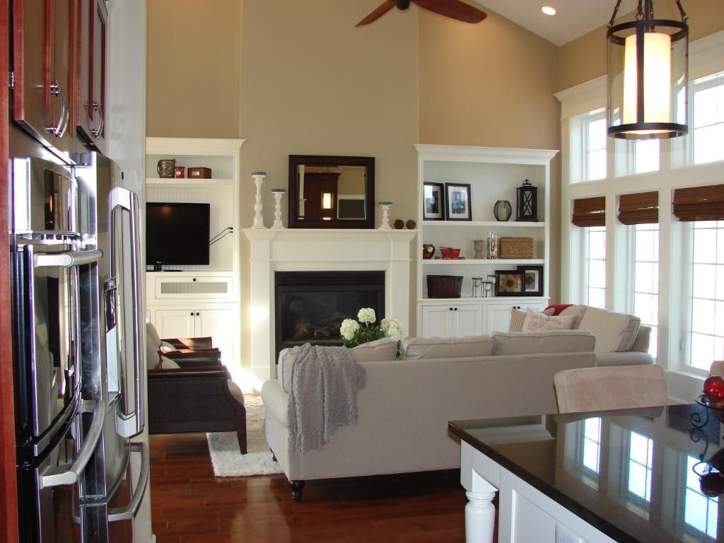 Living Room Half Vaulted Ceiling Living Room Craft Room Fireplace Built Ins Fireplace Seating Vaulted Ceiling Living Room