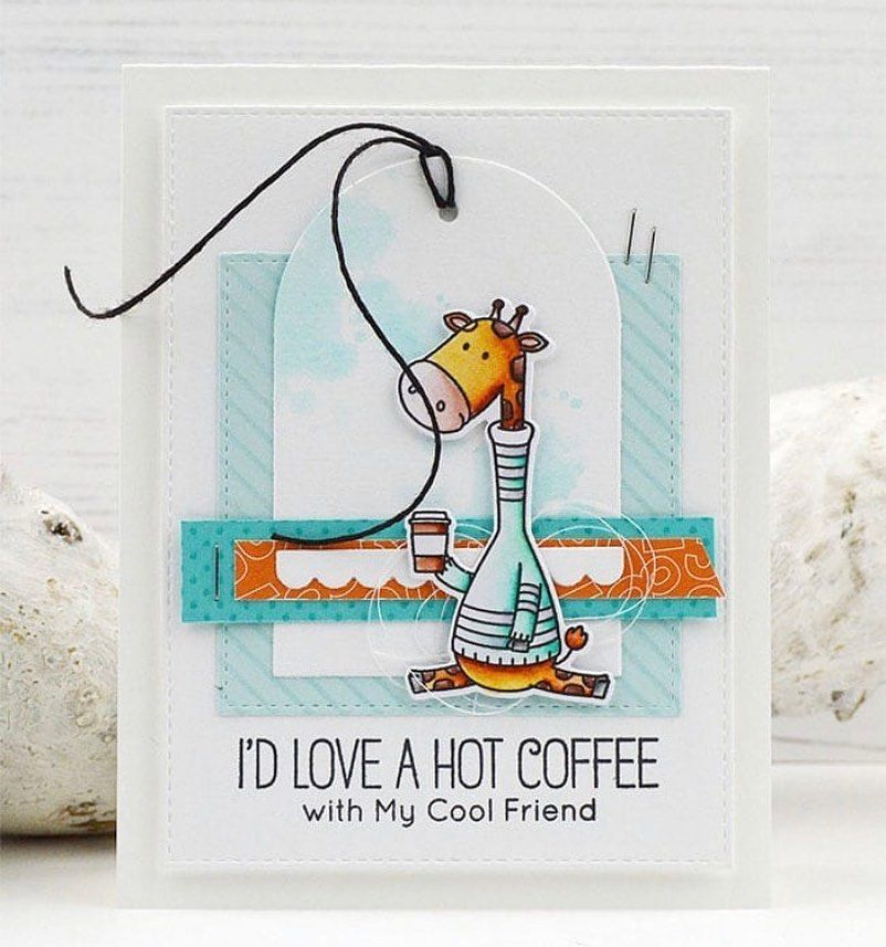 """My Favorite Things on Instagram: """"Missing coffee dates with friends... send them a card to let them know. ️ (�: @inge.groot) #mftstamps #cardmaking #papercrafts"""""""