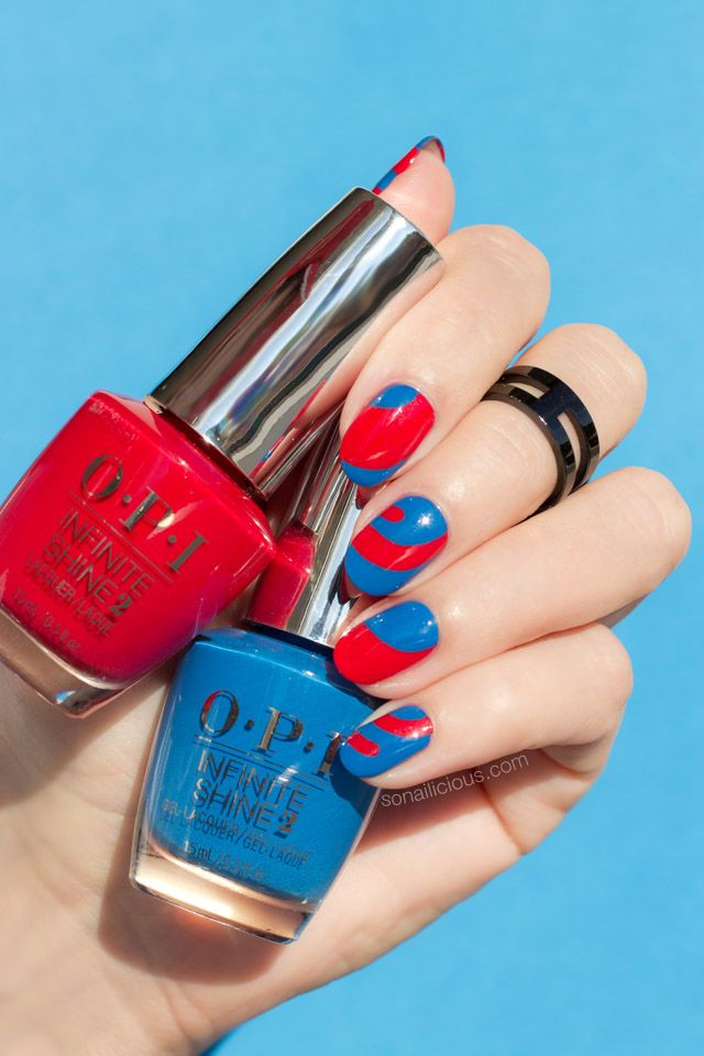Blue and Red Nails: The Hottest Colours of Summer 2018 | Red nail ...