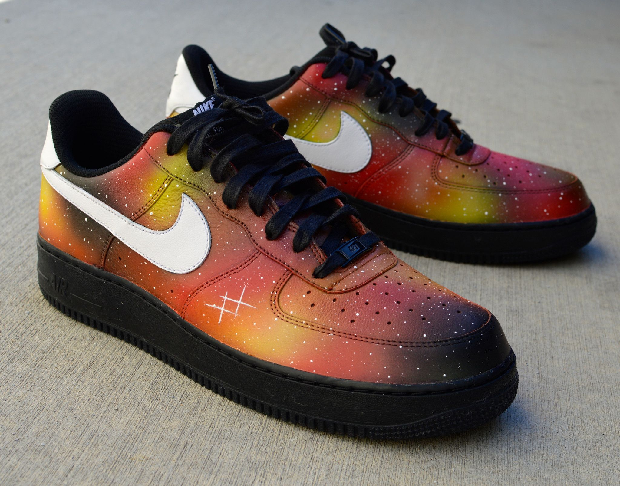 These one of a kind hand painted Air Force Ones Low Sneakers
