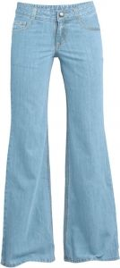 Washed trouser jeans