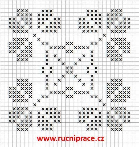 Crochet Motif – Double Filet Crochet – Crochet entrelacé – Crochet entrelacé   – KANEVİÇE