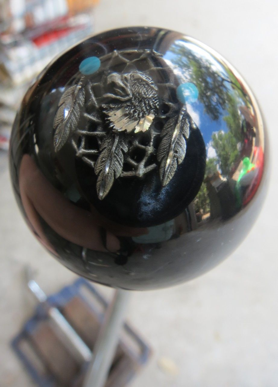 Truck, Black Pearl Rat Fink  Custom Shift Knob With pewter logo    Car