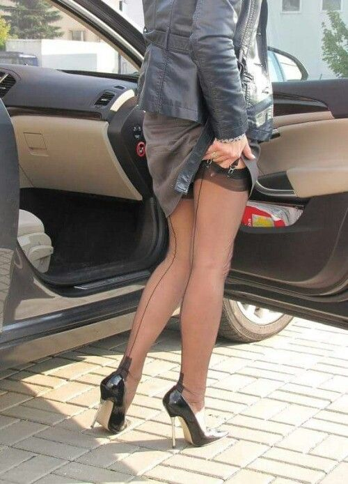 High heels und strapse