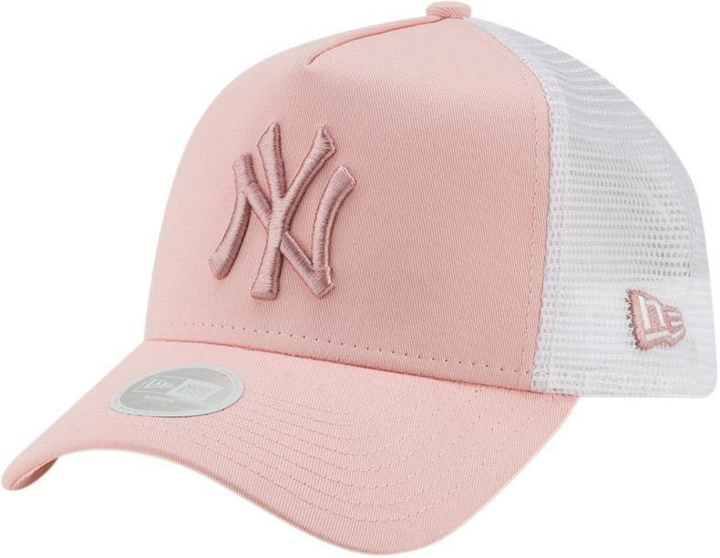 NY Yankees Womens New Era League Essential Pink Trucker Cap in 2019 ... 67945228539