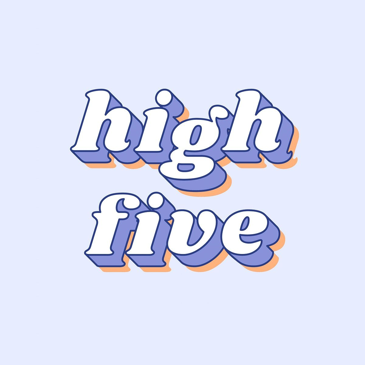 High Five Text Shadow Effect Bold Font Typography Free Image By Rawpixel Com Namcha Bold Fonts Free Illustrations Slogan Design