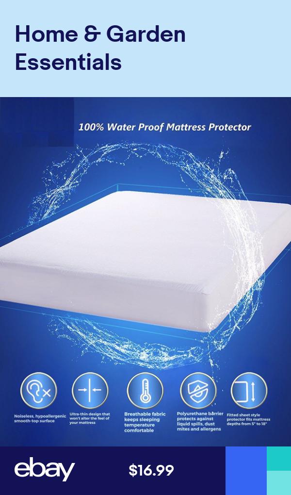 Waterproof Mattress Protector Encasement Zippered Anti