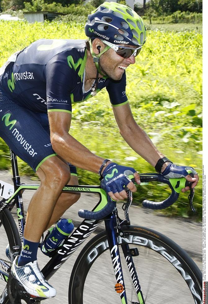 Alejandro Valverde (Movistar) on the attack Photo: © Tim de Waele/TDW Sport