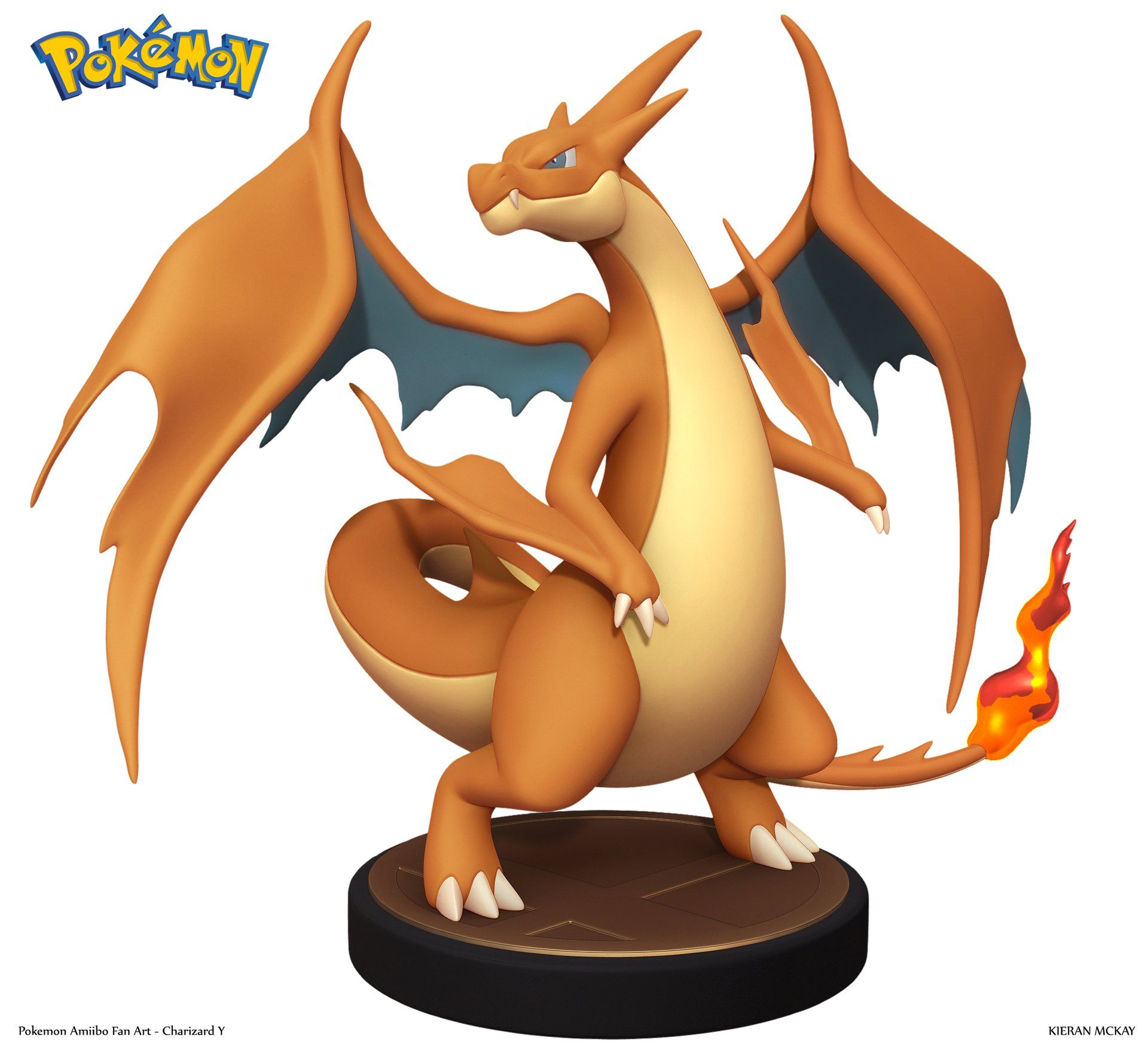 ArtStation - Pokemon Charizard Y Amiibo - Fan Art, Kieran McKay
