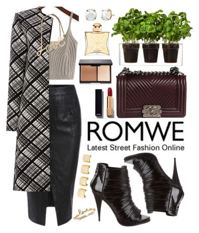 """""""Romwe"""" by oshint ❤ liked on Polyvore featuring Ellen Tracy, Givenchy, Chanel, Boskke, Hermès, Luv Aj, Lanvin, women's clothing, women and female"""