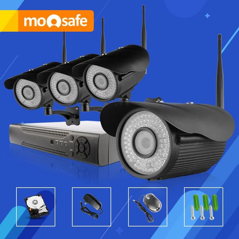 $799.90 (Buy here: http://appdeal.ru/efx8 ) Mosafe 4CH HD WIFI Night Vision 1920*1080P P2P Infrared LED 8CH NVR Multi language Fixed Lens IR Cut camera system for just $799.90
