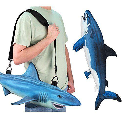 Gift Set) Giant Shark Body Pillow & Great White Shaped Shoulder ...