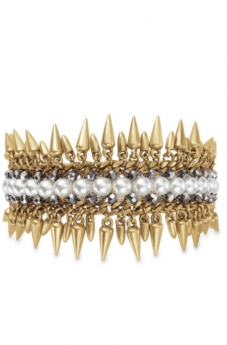 Shop the unique & stylish Jacinthe gold & pearl statement bracelet from Stella & Dot. Find chic fashion bracelets, bangles, cuffs, wrap bracelets & more.