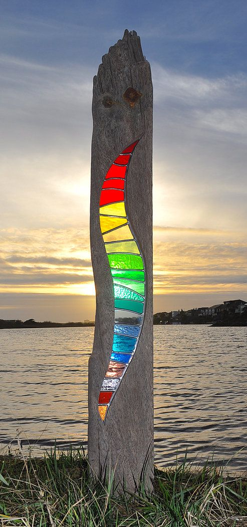 Louise V Durham / Stained Glass Garden Sculptures / Illuminate II