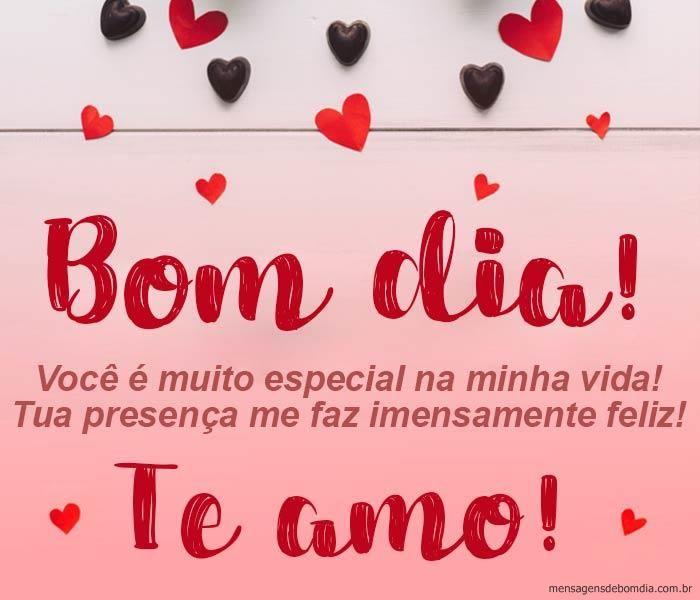 Bom Dia Te Amo Mensagens Romanticas De Bom Dia Mensagem Bom