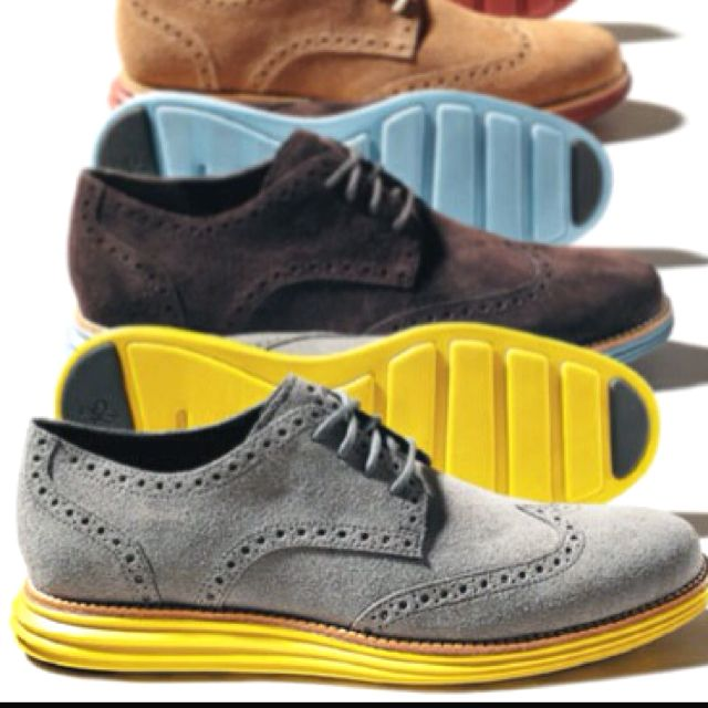 Kenneth Cole Wing Tips suede with Nike Lunarglide soles