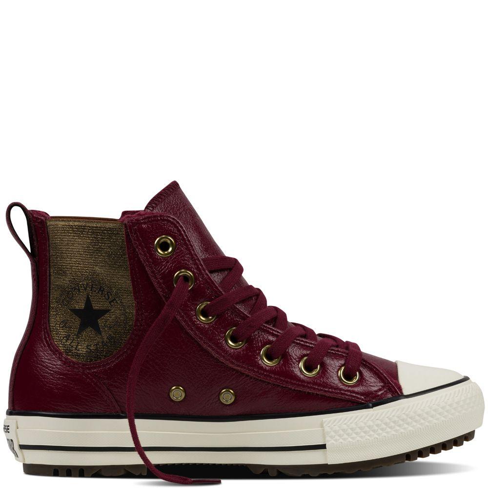 e7032c828df0 Chuck Taylor All Star Chelsea Boot Leather + Fur Deep Bordeaux deep bordeaux