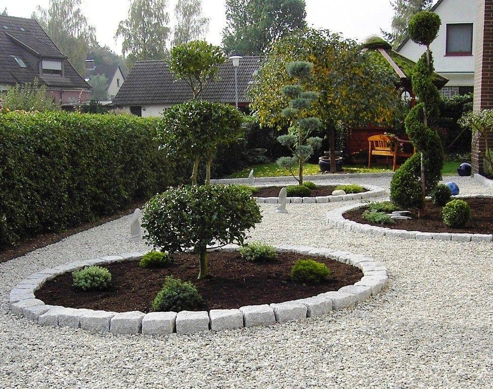 Gärten | Gartengestaltung Modern Kies | Kunstrasen Garten