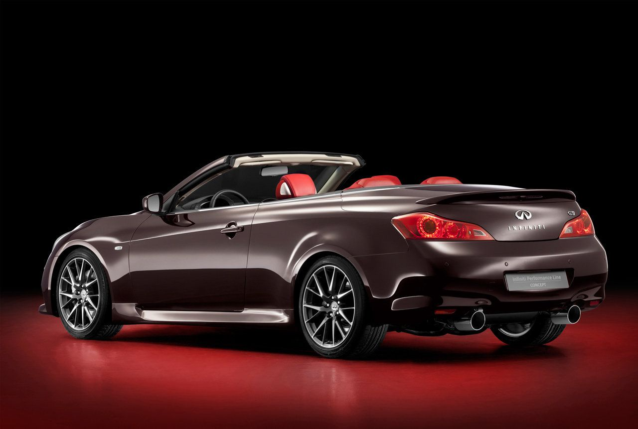 Infiniti Luxury Brown Sport Car Picture Back View (With