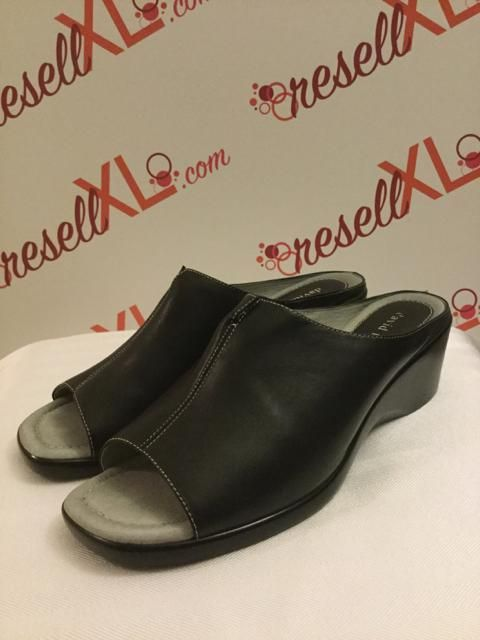 David Tate Size 11 Nero Backless Wedges    ResellXL scarpe    f4392c
