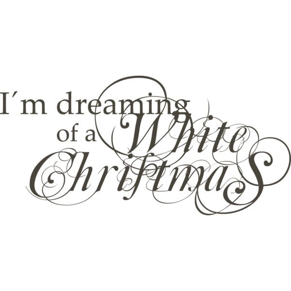 I\'m dreaming of a white Christmas. ❤ liked on Polyvore featuring ...