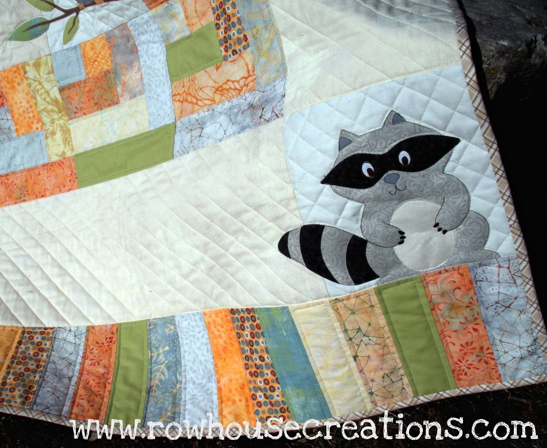 One Big Cabin | Raccoons, Babies and Patterns : baby quilt applique patterns - Adamdwight.com