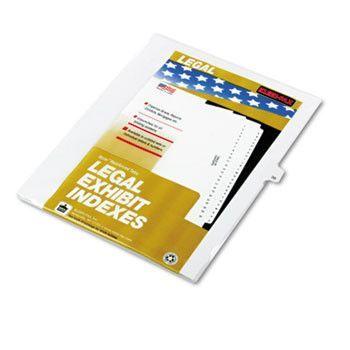 """80000 Series Legal Index Dividers, Side Tab, Printed """"36"""", 25/pack"""