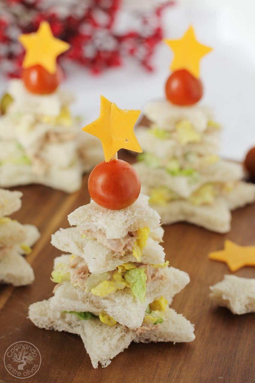 Sandwiches Navideños Navidad Www Cocinandoentreolivos Com 16 Aperitivos Navideños Comida De Navidad Cena De Navidad Recetas