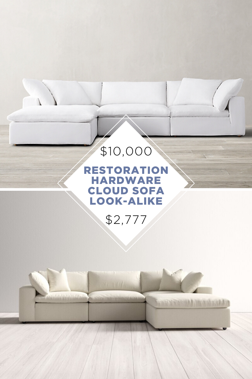 Restoration Hardware Cloud Sofa Copycat Kendra Found It In 2020 Restoration Hardware Cloud Restoration Hardware Cloud Couch Restoration Hardware Living Room