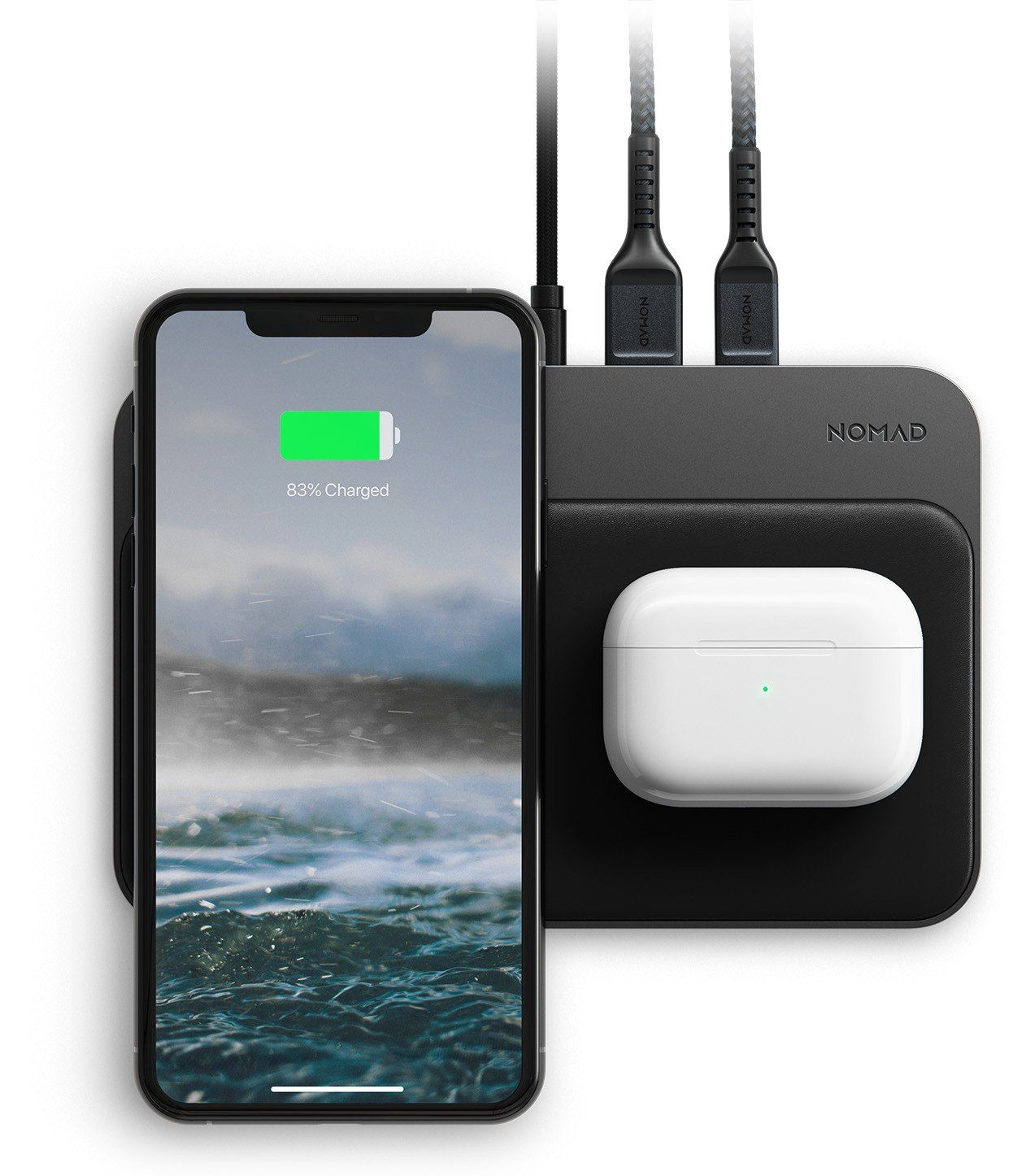 Base Station Hub Edition Wireless Charging Station Black Nomad Shop Iphone Cases Watch Charger Apple Watch Charger