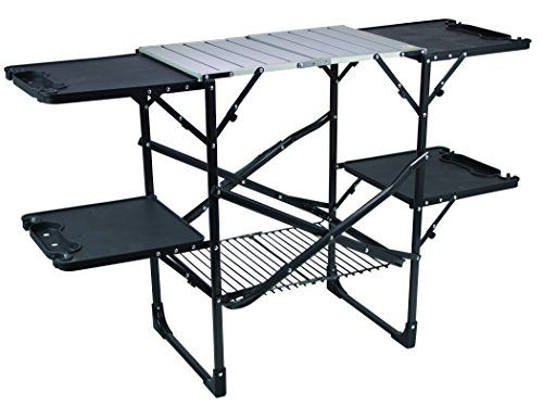 Slim Fold Camp Kitchen Portable Folding Cook Station With