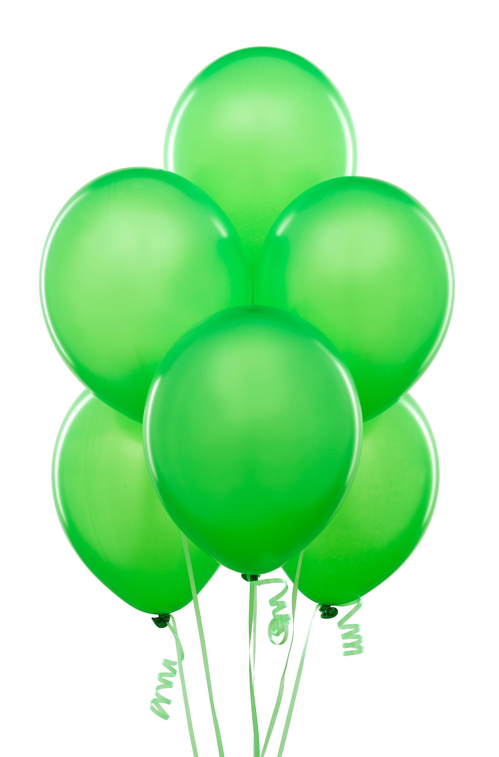 Green and blue balloons - Lime Green Balloons 6 Count